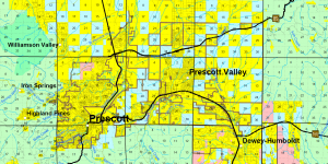 Land use map in Prescott Arizona